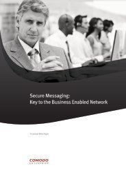 Secure Messaging: Key to the Business Enabled ... - SSL Certificate