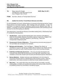Transit Ad-Hoc Committee Update - Niagara Falls