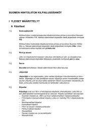 Liiton säännöistä - Suomen Hiihtoliitto