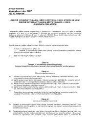 OZV města Vizovice č. 3/2011, kterou se mění OZV č. 2/2010 o ...