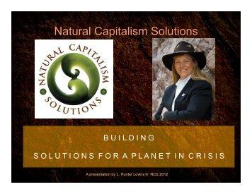Hunter's slides - Natural Capitalism Solutions
