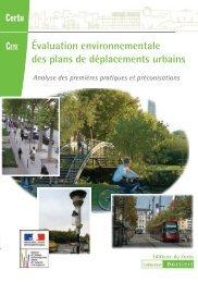 Evaluation Environnementale des PDU - environnement & urbanisme