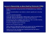 Issues in Nomadicity as described by Kleinrock (1995)