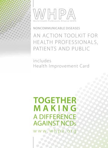 WHPA NCD Action Toolkit - cover - World Health Professions Alliance