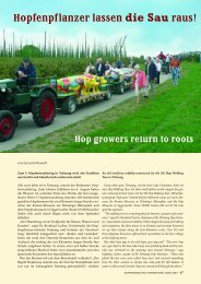 Hopfenpflanzer lassen die Sau raus! Hop growers return to roots