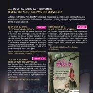 du 29 oCToBRE Au 4 NoVEMBRE TEMPS FoRT ALICE ... - Tourcoing