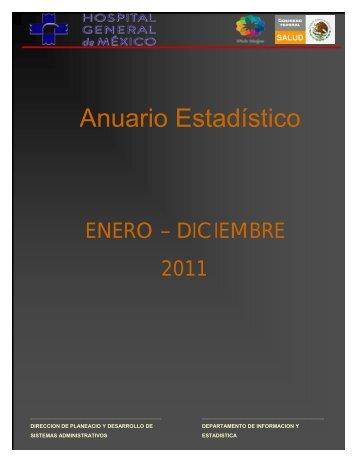 Anuario 2011 - Hospital General de México