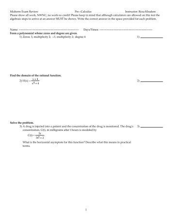 Pre-calc help? Review guide for midterm problem.?