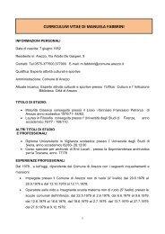 Pos. Org. Fabbrini Manuela - Comune di Arezzo