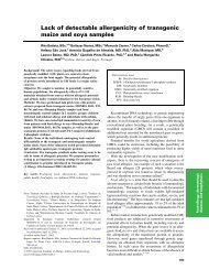 Lack of detectable allergenicity of transgenic maize and soya ... - CIB