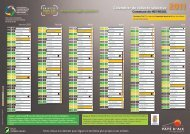 Calendrier de collecte sélective 2011