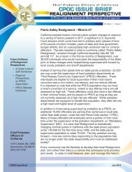 CPOC Issue Brief #1 - Chief Probation Officers of California