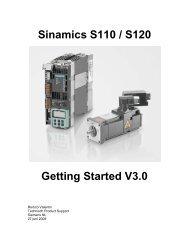 Getting Started Sinamics S110 / S120 - Industry - Siemens Nederland