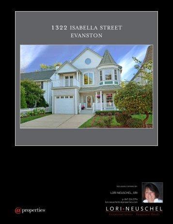 1322 ISABELLA STREET EVANSTON - Properties
