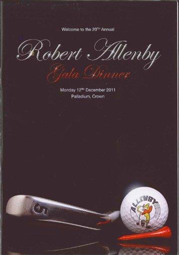 Download the 2011 Robert Allenby Gala Dinner program