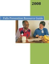 Falls Prevention Resource Guide - Long-Term Care Best Practices ...