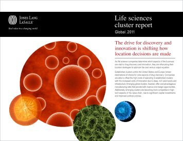 Global life sciences cluster report - Jones Lang LaSalle