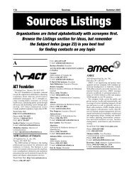 Sources 56 - Listings A - B