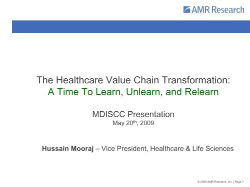 The Healthcare Value Chain Transformation - Manajemen Rumah ...