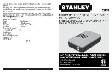 LITHIUM-ION BATTERY BOOSTER / SIMPLE ... - Baccus Global