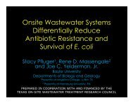 Onsite Wastewater Systems Differentially Reduce Antibiotic ...