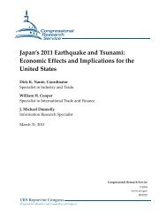 Japan's 2011 Earthquake and Tsunami: Economic ... - Open CRS