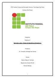 IFSP Instituto Federal de Educação Ciência e Tecnologia São Paulo ...