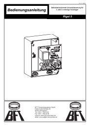 Bedienungsanleitung - Antriebe 24