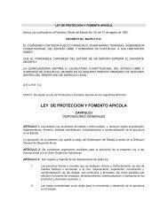LEY DE PROTECCION Y FOMENTO APICOLA