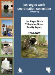 Las Vegas Wash Tributaries Water Quality Report, 2003-2007