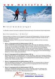 Winterwandern - Montafon