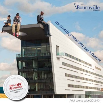 Adult Course Guide 2012 - Bournville College