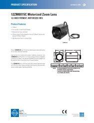 12ZM8X15C Motorized Zoom Lens - Cables Plus USA