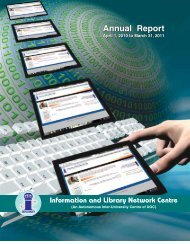 Year 2010-2011 - INFLIBNET Centre