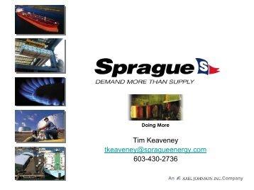 Sprague Biodiesel Presentation - Granite State Clean Cities Coalition