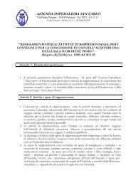 AZIENDA OSPEDALIERA SAN CARLO - Ospedale San Carlo