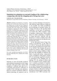 Simulation investigations on energetic loading of the withdrawing ...
