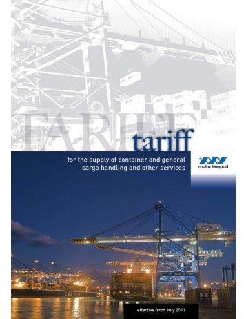 Malta Freeport Terminals Tariff.pdf - Inchcape Shipping Services