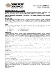 Chemical Acid Stain - AltaPaints and Coatings