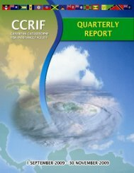 Quarterly Progress Report - The Caribbean Catastrophe Risk ...