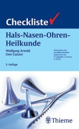 Thieme: Checkliste Hals-Nasen-Ohren-Heilkunde - PagePlace
