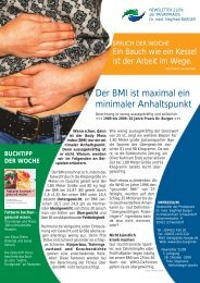 Der BMI ist maximal ein minimaler Anhaltspunkt - Privatpraxis Dr ...