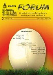 Gemeindebrief der Evangelischen Kirchengemeinde Medebach