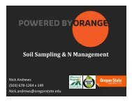 Soil Sampling & N Management p g g - Oregon Small Farms