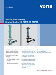 Zentrifugalabscheidung Kegelschleudern KS 200/6, KS 200/15 - Voith