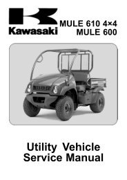 MULE 610 4×4 MULE 600 Utility Vehicle Service Manual