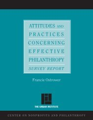Attitudes and Practices Concerning Effective ... - Urban Institute