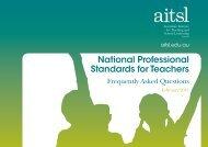 AITSL National Professional Standards for Teachers - FAQ