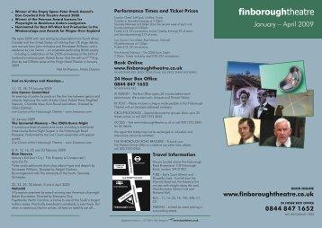 0844 847 1652 - Finborough Theatre