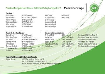 gebrüder binder - und Betriebshilfsring Vorderpfalz